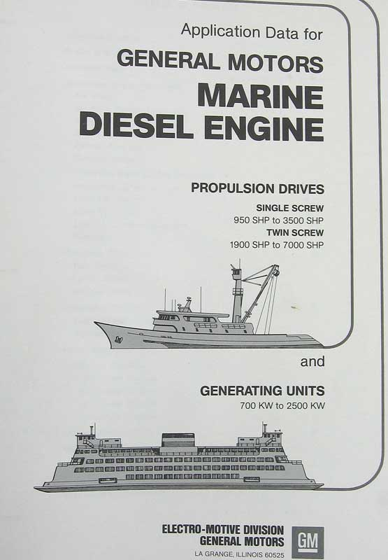 Application data for general motors marine diesel engine for General motors marine engines