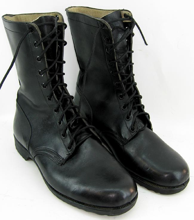Brown Leather Jump Boots Uniforms U S Militaria