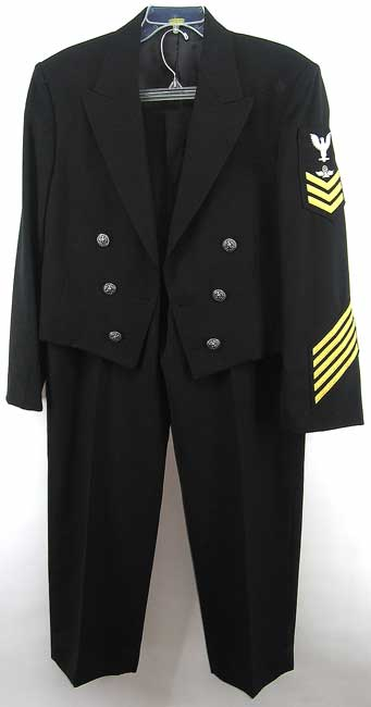Unusual Navy enlisted formal uniform